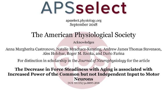 SMI researchers acknowledged by The American Physiological Society